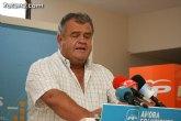 Juan Pagán anunció en rueda de prensa la retirada de su candidatura al congreso del PP de Totana