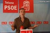 El PSOE propone un gobierno de conciliación presidido por el PP para sacar a Totana de la crisis