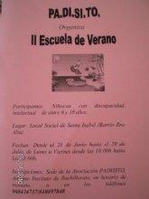 PADISITO organiza la II Escuela de Verano