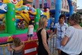 Los más pequeños disfrutan durante estas Fiestas de Santiago de las actividades lúdicas e hinchables