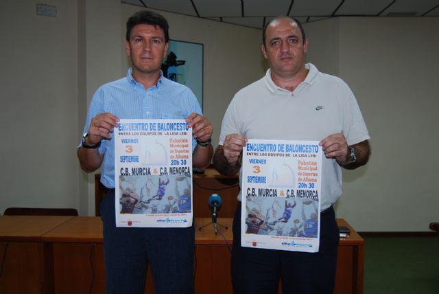 El pabellón de deportes acoge el primer partido de pretemporada del CB Murcia, Foto 1