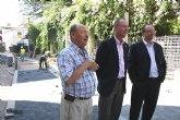 Avanzan las obras de renovaci�n integral del entorno de la Iglesia de San L�zaro en Alhama