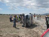 Policía Local y Protección Civil de Totana intervienen en un accidente de tráfico