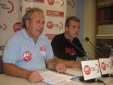 El seguimiento de la Huelga General alcanza el 70% de participaci�n en la Regi�n de Murcia, seg�n los sindicatos