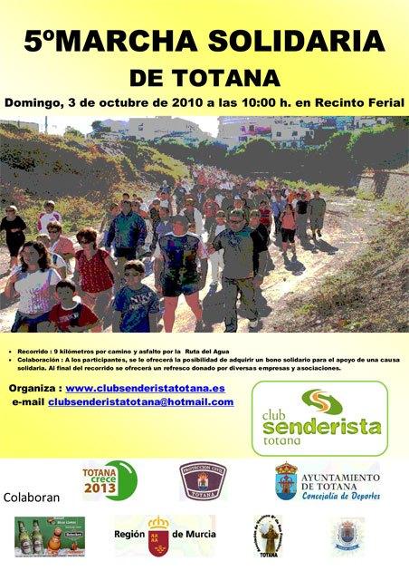 5ª marcha solidaria Ciudad de Totana, organizada por el Club Senderista de Totana, Foto 1