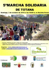 5ª marcha solidaria Ciudad de Totana, organizada por el Club Senderista de Totana