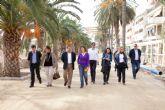 Las obras de los paseos marítimos Francisco Martínez Muñoz y el Rihuete avanzan a buen ritmo