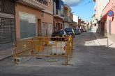 Finalizarán en unos días las obras de regeneración de servicios, alcantarillado y agua potable de la calle Virgen del Castillo