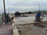 Las pistas deportivas de Cañada de Gallego en plena ejecución