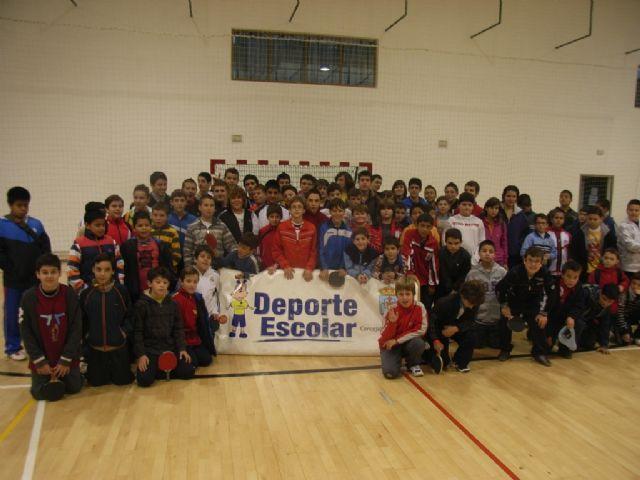 Un total de 78 escolares participaron en el torneo de tenis de mesa de Deporte Escolar, Foto 2