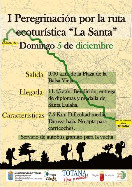 La I peregrinación por la ruta ecoturística La Santa se celebrará este domingo 5 de diciembre, Foto 1