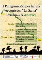La I peregrinación por la ruta ecoturística La Santa se celebrará este domingo 5 de diciembre