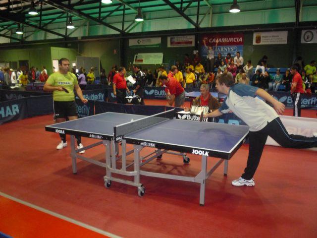 Los alumnos deportistas del Centro Ocupacional José Moya participan en el campeonato regional de tenis de mesa, Foto 1