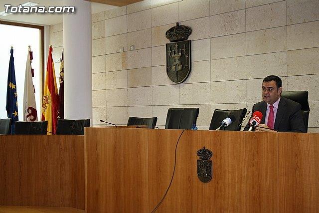 Rueda de prensa del alcalde de Totana sobre actualidad política municipal, Foto 1