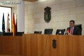 Rueda de prensa del alcalde de Totana sobre actualidad política municipal