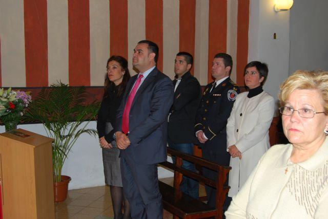 Autoridades municipales asisten a la primera misa que se celebra en honor a Santa Eulalia en el municipio, Foto 2