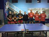 Tenis de mesa. 2ª division nacional. Importantísima victoria de la Peña Barcelonista de Totana