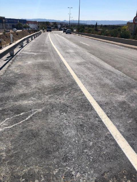 Abre al tráfico el tramo de N-301 donde el Ayuntamiento de Molina de Segura ha llevado a cabo obras de reparación por daños provocados por la DANA de septiembre de 2019 - 2, Foto 2