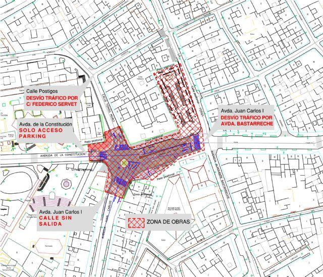 El centro quedará cortado al tráfico debido a las obras de construcción de una rotonda, Foto 1