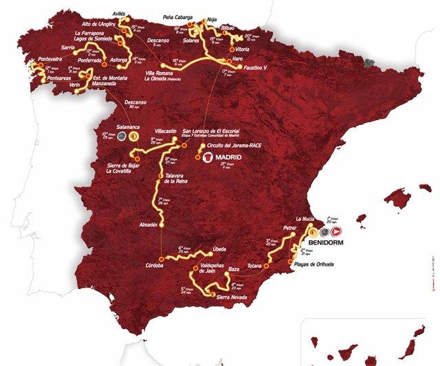 La 3ª etapa de la Vuelta a España 2011 terminará en Totana, Foto 1