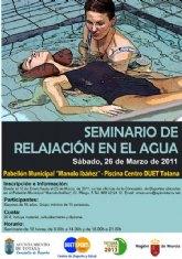 La Concejalía de Deportes ha organizado un Seminario de Relajación en el Agua
