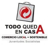 Juventudes Socialistas agradece la colaboración a todos los comercios de Totana que han participado en la campaña Todo queda en casa