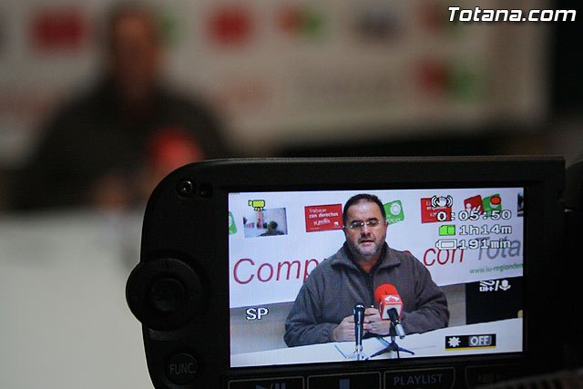 Rueda de prensa IU Totana 01/02/2011, Foto 1