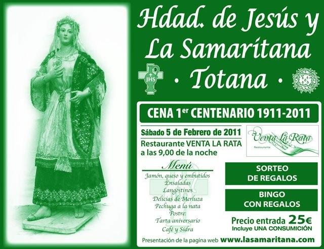 Mañana se inician los actos conmemorativos del centenario de la Hermandad de Jesús y La Samaritana, Foto 1