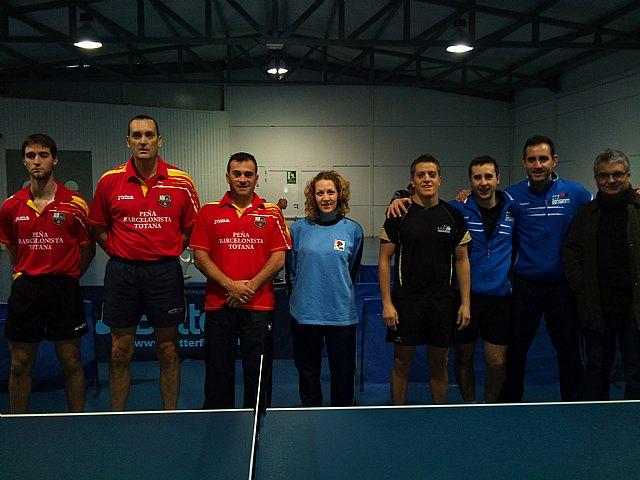 Tenis de mesa. 2ª division nacional. Gran partido de la Peña Barcelonista en Beniganim, Foto 1