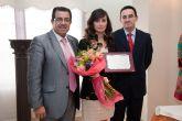 Marian Martínez Noguera recibe el premio ´Mujer mazarronera 2011´