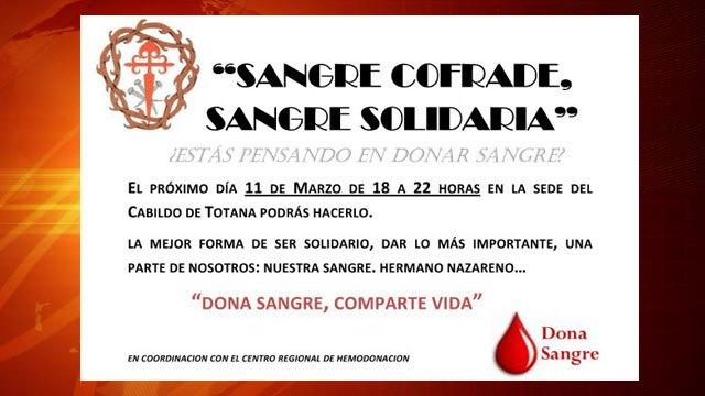 Sangre cofrade, Sangre solidaria. Campaña solidaria de donación de sangre promovida por el Ilustre Cabildo, Foto 2