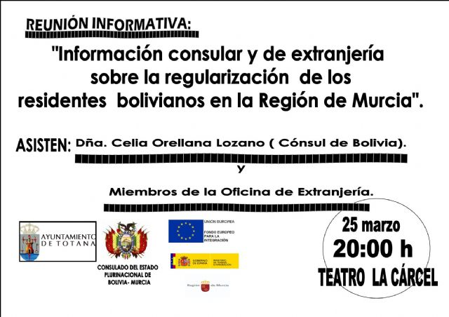 The Consul of Bolivia will visit March 25 Totana - 1