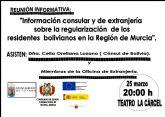 La Cónsul de Bolivia visitará el próximo 25 de marzo Totana