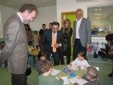 Sotoca visita las instalaciones del colegio Infanta Leonor de Mazarrón