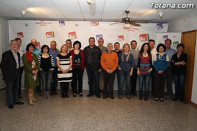 Juan José Cánovas, open the candidacy of IU-Greens in Totana, which incorporates several independent - 1