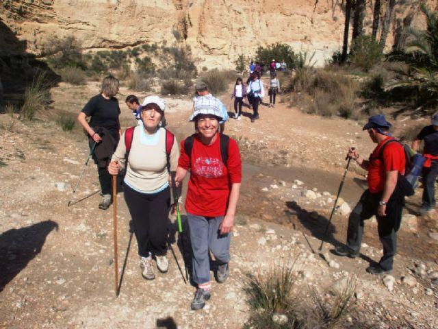 Cerca de 40 senderistas participaron en la ruta senderista que discurrió por el río Chicamo en Abanilla, Foto 3