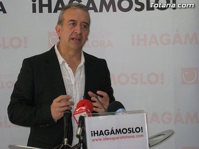 Rueda de prensa PSOE Totana. Otálora 01/04/2011, Foto 2