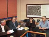 Los candidatos de IU-Verdes se reúnen con la Junta Directiva de la Comunidad de Regantes de Totana para recoger propuestas y compromisos