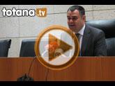 Rueda de prensa del alcalde de Totana sobre la Orden de la Consejería de Obras Públicas y Ordenación de Territorio