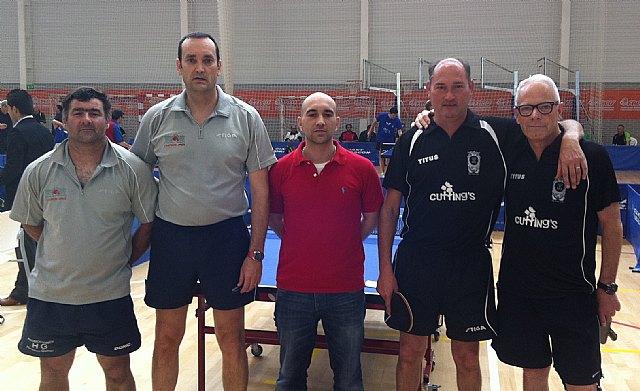 Tenis de mesa. Campeonato de España de veteranos. Buen papel de Domingo en individual y en dobles, Foto 1