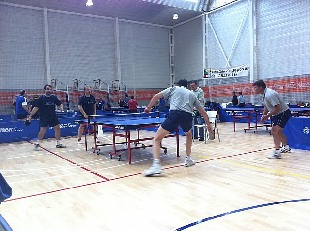 Tenis de mesa. Campeonato de España de veteranos. Buen papel de Domingo en individual y en dobles, Foto 2