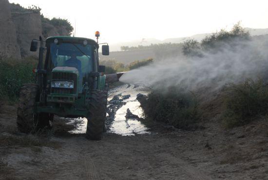 El alcalde informa de que el ayuntamiento pidió a la CHS hace más de un mes que procediera a la limpieza de la mota del río Guadalentín, Foto 1