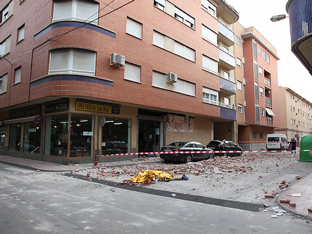 Parte 19:30 horas. Nueve fallecidos, 324 atenciones, 17 ingresos hospitalarios y tres pacientes graves, nuevo balance tras los terremotos de Lorca, Foto 1
