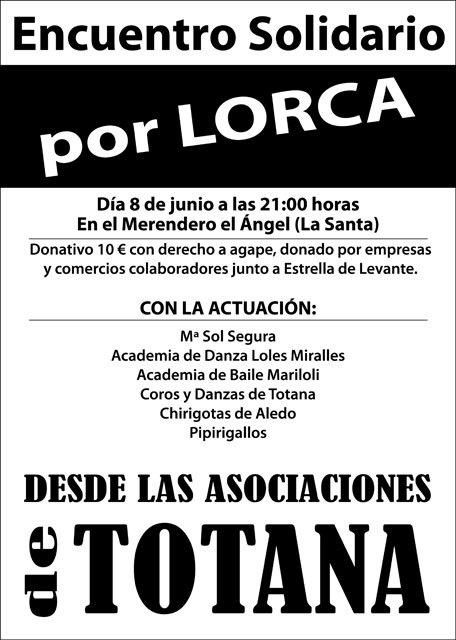 Encuentro solidario por Lorca, desde las Asociaciones de Totana, Foto 1