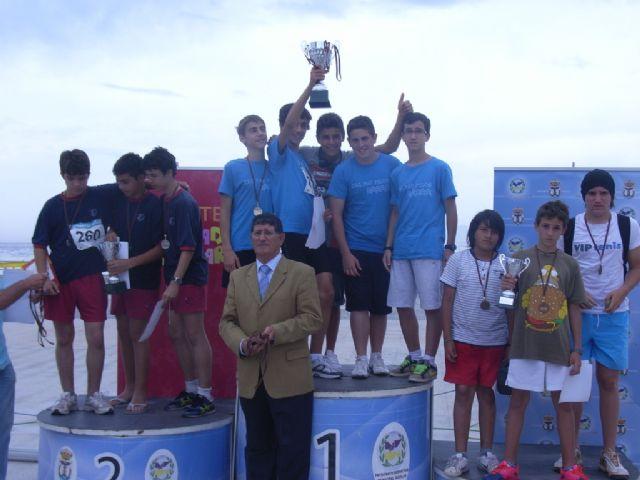 Buenos resultados de los escolares totaneros que han participado en la final regional de acuatlón de deporte escolar celebrada en Águilas, Foto 1