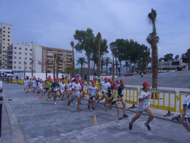 Buenos resultados de los escolares totaneros que han participado en la final regional de acuatlón de deporte escolar celebrada en Águilas, Foto 4