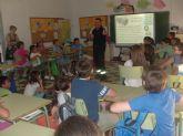 Protección Civil imparte sesiones formativas a escolares del Colegio Santiago para saber cómo actuar en caso de un terremoto