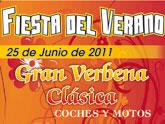 Fiesta del verano.Gran Verbena Clásica. Coches y motos