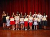Los alumnos de piano de la profesora Cecilia Aznar en la academia de música de Totana, celebraron su audición de final de curso