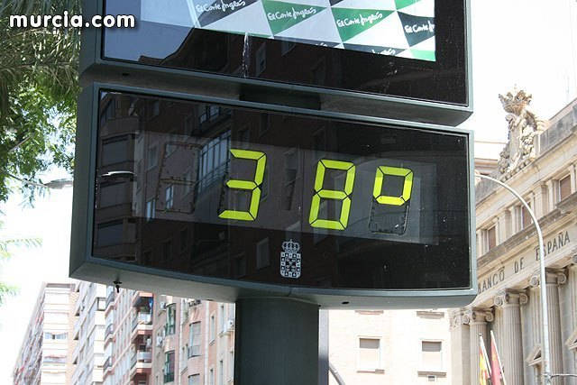 Nivel de alerta amarilla en la Región de Murcia por aumento de las temperaturas, Foto 1